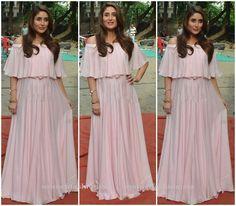 Kareena Kapoor in pink long skirt and off shoulder top
