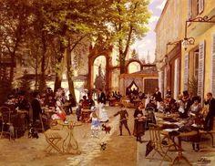 Lady L'Absinthe — Leon Joseph Voirin, La Terrasse du Cafe