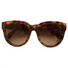 3eeeb221b06cb Brown Plastic Sunglasses CELINE Vitrine De Moda, Oculos De Sol, Celine, Ysl,