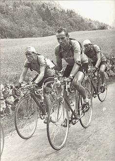 Hugo Koblet and Stan Ockers competing in the 1951 Tour de France.