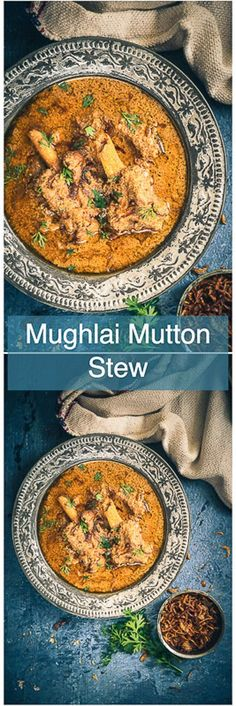 This Old Delhi Style Mughlai Mutton Stew recipe is a royal delicious assemblage of fine flavours brewed with mutton and spices Indian I Mutton I Curry I Curries I Spicy I. Best Soup Recipes, Lamb Recipes, Veg Recipes, Curry Recipes, Indian Food Recipes, Asian Recipes, Cooking Recipes, Chicken Recipes, Chicken Stew Recipe Indian