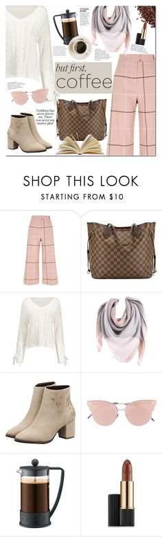 """""""Coffee time"""" by mery90 ❤ liked on Polyvore featuring River Island, Louis Vuitton, So.Ya, Bodum, Estée Lauder, fallstyle, coffeebreak, zaful and fall2017"""