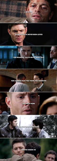 I love you.   #spn #destiel