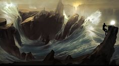 Amazing From Dust Waves Mountains Nature Fan Art Download Image Wallpaper
