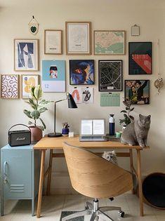 Home Office Design, Home Office Decor, Home Office Space, House Design, Study Room Decor, Room Ideas Bedroom, Home Decor Bedroom, Workspace Inspiration, Home Decor Inspiration