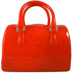 Pre-owned Furla Mini Candy Speed Jelly Red Satchel ($195) ❤ liked on Polyvore featuring bags, handbags, red, pre owned handbags, furla satchel, furla handbags, mini handbags and mini purse