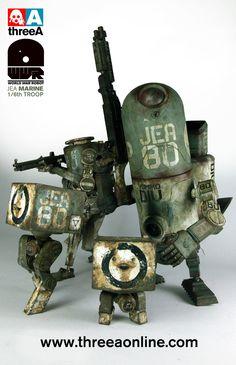 Cool Robots, Cool Toys, Steampunk Robots, Retro Robot, Ashley Wood, Robot Design, Vinyl Toys, Designer Toys, Sci Fi Art