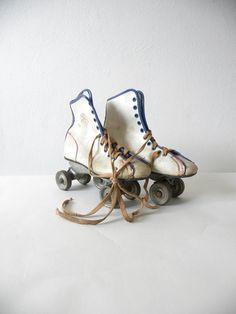 Vintage Official Girl's Roller Derby Skates by mockingbirdroad, $15.00