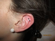 double outer conch studs