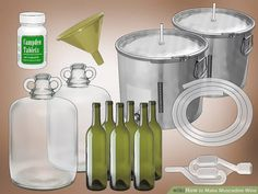 How to Make Muscadine Wine (with Pictures) - wikiHow Alcohol Drink Recipes, Wine Recipes, Grape Wine Recipe, Rain Drop Cake, Homemade Wine Making, Muscadine Wine, Yeast Packet, Wine Making Supplies, Wine Yeast