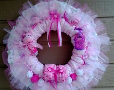 Diaper Wreath-Free Shipping