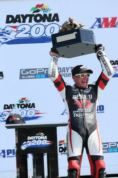 Danny Eslick earning Triumph the 2014 DAYTONA 200 victory.