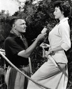 Clark Gable and Ava Gardner in Mogambo1953
