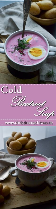 Cold beetroot soup is a specialty of Lithuanian cuisine and tastes good. Low Budget Meals, Beetroot Soup, Cheddar Cheese Soup, Soup Recipes, Healthy Recipes, Wild Rice Soup, Sweet Potato Soup, Soups And Stews, Summer Recipes