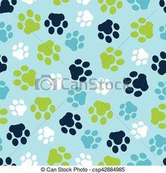 Vector pattern seamless of background animal blue footprints and paw. Pattern seamless of background animal blue footprints and paw. Vector Stock, Eps Vector, Vector Art, Mario Run, Art Icon, Footprints, Free Illustrations, Vector Pattern, Line Art