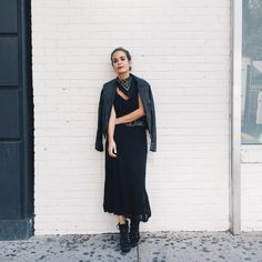 Pin for Later: 44 Ways to Style the 1 Fashion Item Every Woman Needs With a Leather Jacket, a Bandana, a Belt, and Boots