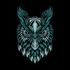 Illustration Of Mystical Owl Head Owl Vector, Vector Art, Owl Background, Black And White Owl, Black Sheep, Owl Head, Owl Logo, Owl Illustration, Symbol Tattoos