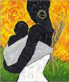 """Mãe Africa. Arte Africana 04 _Pintura  """"O filho pra sua mãe sempre terá um só tamanho!"""""""
