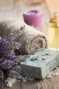 Photo about Spa setting with lavender, towel and natural soap. Image of aroma, close, dayspa - 22112202 Lavender Cottage, Lavender Soap, Lavender Blue, Lavender Fields, Lavender Flowers, Lavander, Lavender Crafts, Growing Lavender, French Lavender