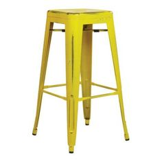 Office Star OSP Designs by Products Bristow 30 Antique Metal Barstool, Antique Yellow with Blue Specks, Black Bar Stools, 24 Bar Stools, Metal Bar Stools, Swivel Bar Stools, Bar Chairs, Eames Chairs, Office Star, Antique Metal, Orange
