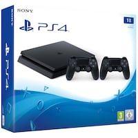 Playstation 4 Slim 1 Tb F Chassi Svart 2x Dualshock Playstation 4 Ps4 Pro Och Ps4 Slim Giftryapp Sony Playstation Playstation Playstation 4