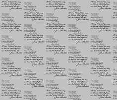 Danita's Favorite Quote by Jane fabric by midcoast_miscellany on Spoonflower - custom fabric