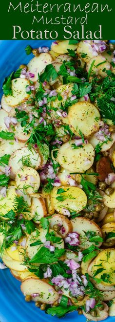 Mediterranean Style Mustard Potato Salad - TheMediterraneanDish.com | No sumac? Try substituting lemon zest & salt OR lemon pepper seasoning.