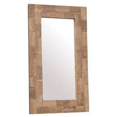 Teak-framed wall mirror with a natural finish.   Product: Wall mirrorConstruction Material: Teak wood and mirrored g...