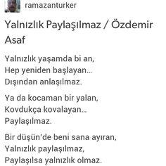 Yalnızlık paylaşılmaz / Özdemir Asaf