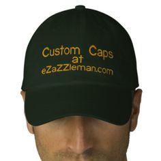 Custom Caps @ eZaZZleman.com Embroidered Hats