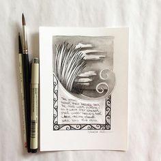 #Inktober illustration #6 - halfway through this poem! #arhsketches #inktober15 Copyright Amalia Hillmann