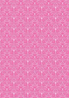 Free digital pink damask scrapbooking paper - ausdruckbares Geschenkpapier - freebie   MeinLilaPark – DIY printables and downloads