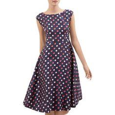 Hobbs London April Dot Print Dress