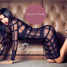Ultimate cage bandage dress is last in stock - get it quick before it's gone. Comes with knickers.  Shop: www.elysiumlux.com
