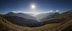 Paysage de Savoie  Bourg St Maurice, les Arcs, la plagne, tarentaise. © Manu Reyboz photographe