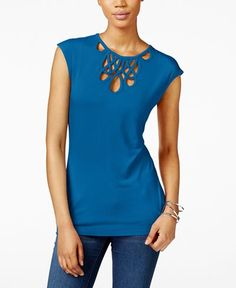 INC International Concepts Cutout Top, Only at Macy's - Tops - Women - Macy's