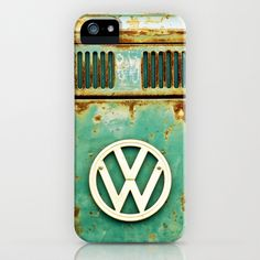 VW Retro iPhone & iPod Case by Alice Gosling - $35.00 Available as Galaxy S4, iPhone 5, 5S, 5C, 4S, 4, 3GS, 3G, & the iPod Touch  #iphone #phonecase #Samsung #Galaxy #VW #Camper #Bus #Retro #Rust