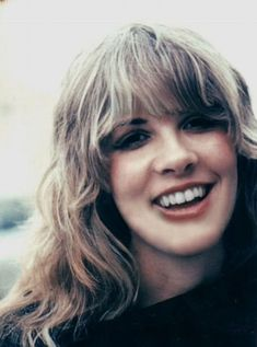 Stevie, smiling in the 1970s ~ a femme fatale~ a woman with dangerous beauty ~ ☆♥❤♥☆ ~ https://alexscissors.wordpress.com/tag/natural-wavy/