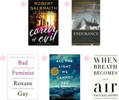 The top five books on our reading list right now