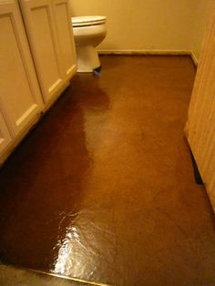 DIY Stained Brown Paper Floor Awesomeness!~ Under $30 Do It Yourself -- I want in grey!