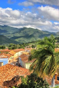 View towards the mountains. Postcard From Trinidad in Cuba with Rebecca Thomas.