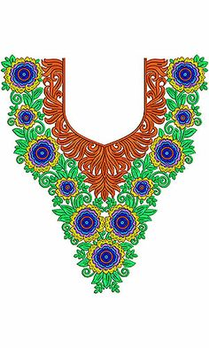 Tana Bana Dress Fashion Neck Embroidery Design