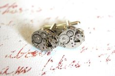 Steampunk Cuff Links by RiversEdgeCreations on Etsy, $25.00