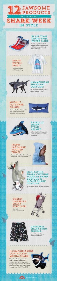 Celebrate @Discovery Channel's 27th annual Shark Week with these 12 jawsome must-haves!