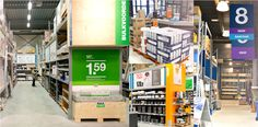 Bouwmaat rebranding - in store collage / Brand Republic