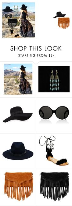 """Bohemian Style"" by florange on Polyvore featuring мода, San Diego Hat Co., Yves Saint Laurent, rag & bone, Steve Madden и SUSU"
