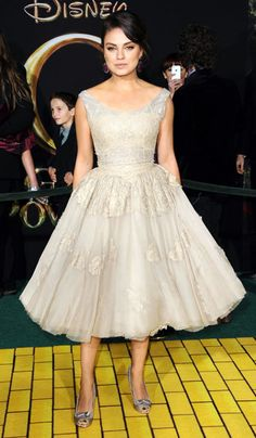 This dress is everything.   Mila Kunis at The Premiere Of Oz The Great And Powerful