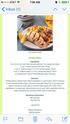 Grilled Mahi lean and green