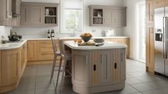 Painted Kitchen Hickory Oak