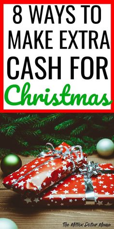 How to make extra money for Christmas - the holidays are fast approaching! Click through for 8 tips and ideas to get more money for Christmas!